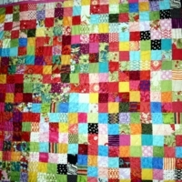 Self Drafted Pattern: Postage Stamp Quilt by jannw