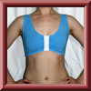 Front closing sports bra