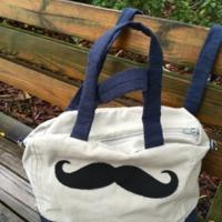 Mustache Messsenger Bag