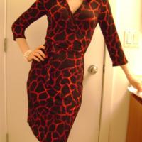 Lea knit wrap dress