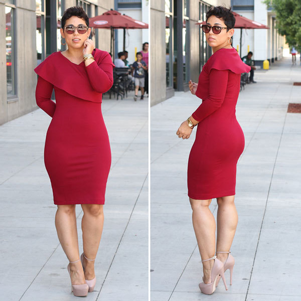 Mimi g style red dress