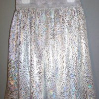 Metallic gathered skirt