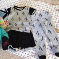 Peek-a-Boo Pattern Shop: Alex & Anna Summer PJs by michellep74