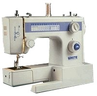 white sewing machine model 1418
