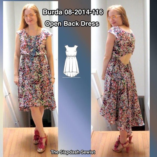 Burdastyle Magazine Cut Out Back Dress 08 2014 116 Pattern Review By