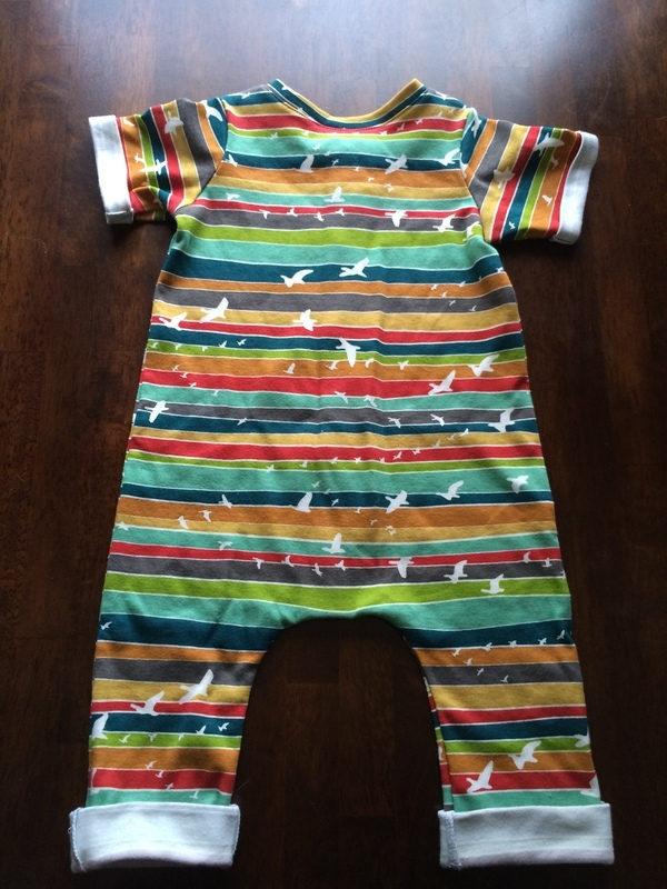 62b42a60bcc9 Brindille   Twig Rolled Hem Romper 089 pattern review by SometimesSewist