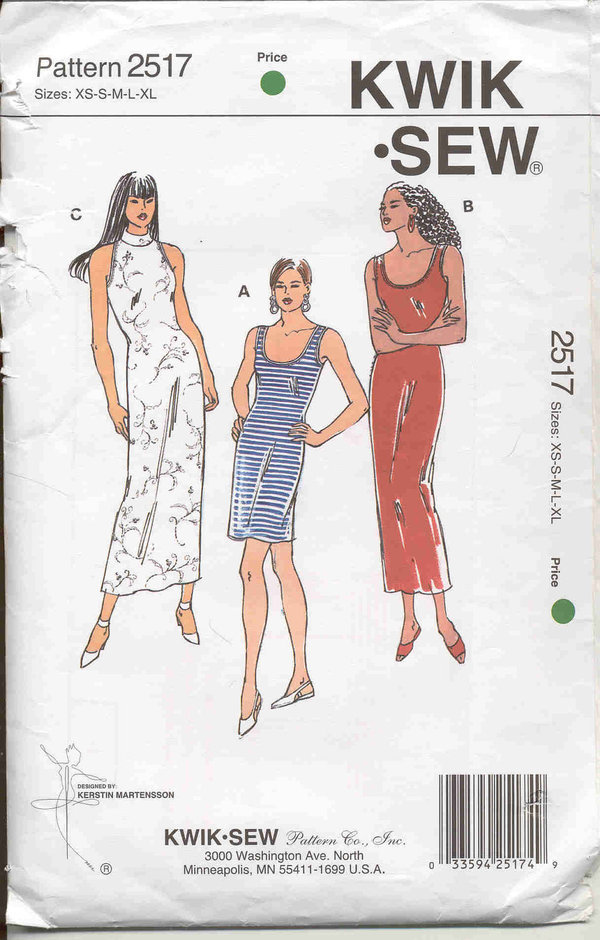 Kwik Sew Knit Dresses 2517 Pattern Review By Julietruly