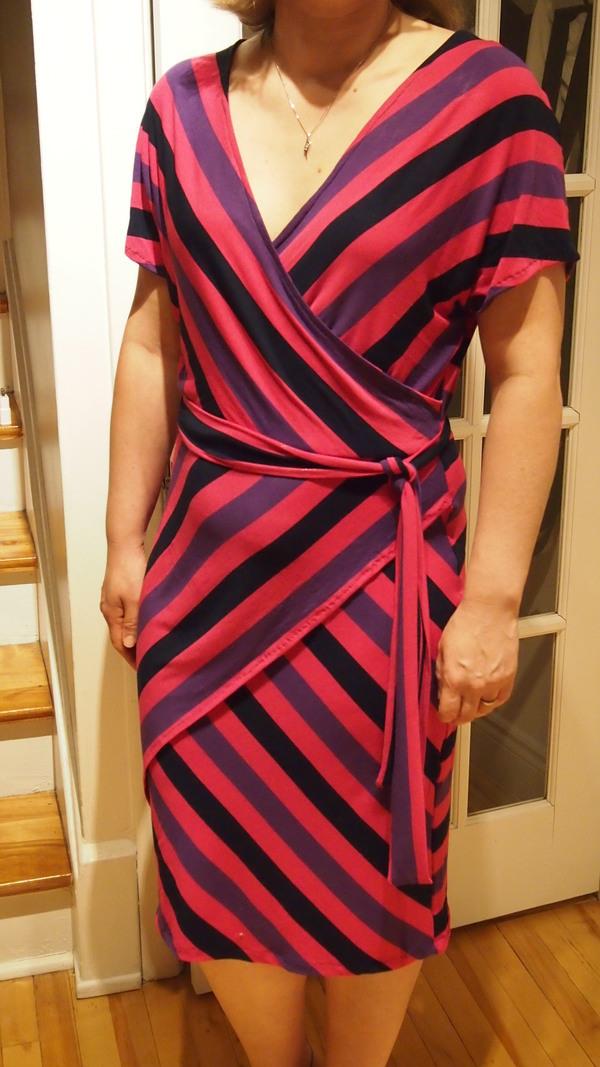 Knitting Pattern Wrap Dress : StyleArc Tia Knit Wrap Dress