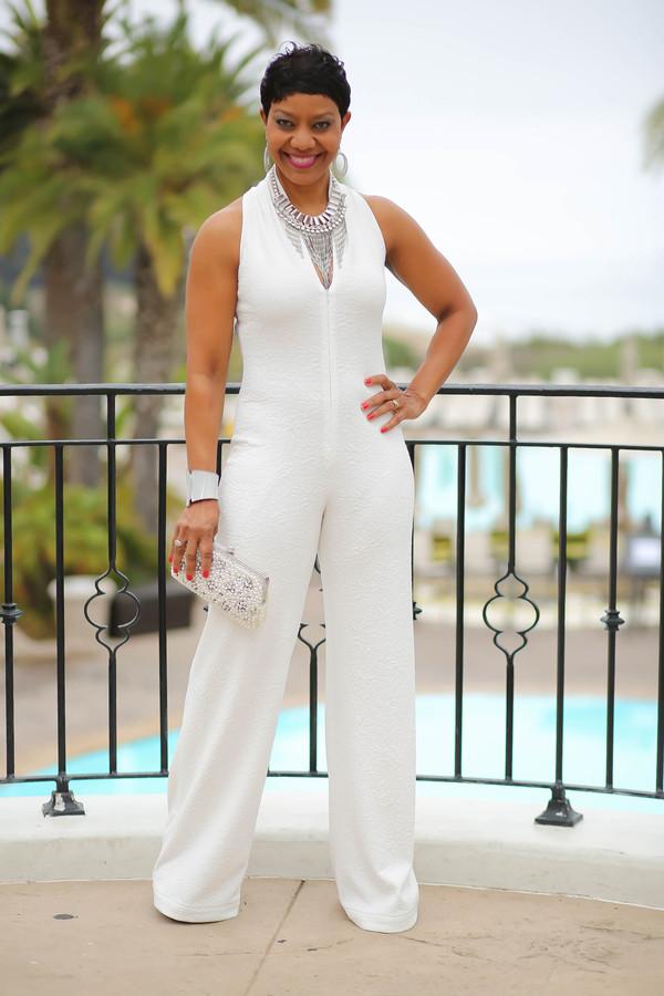 Vogue Patterns 1506 Misses Sleeveless Wide Leg Jumpsuit