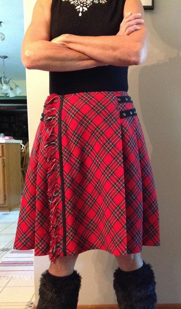 Self Drafted Pattern Draped on dress form Kilt