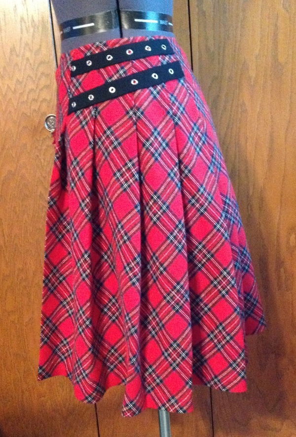 Self Drafted Pattern Kilt Draped on dress form pattern review by ...