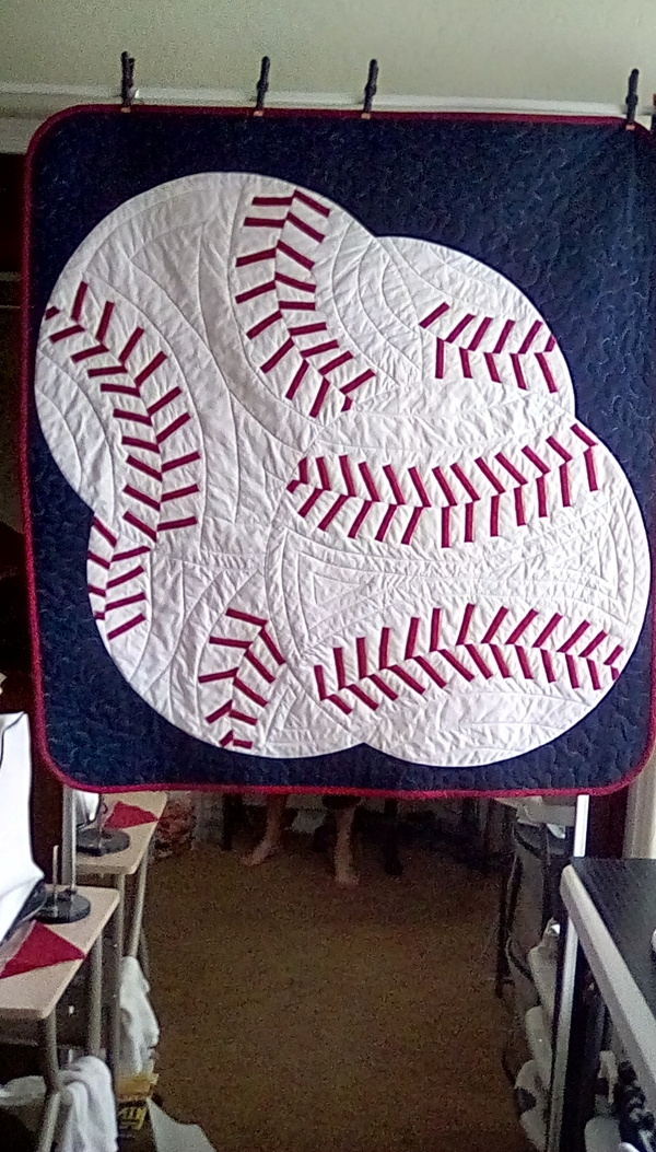 No Pattern Used Exquisite Baseball Quilt Beauteous Baseball Quilt Pattern