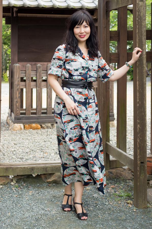 e34d526b178 Named Clothing Reeta Midi Shirt Dress 06-099 pattern review by Eli cat