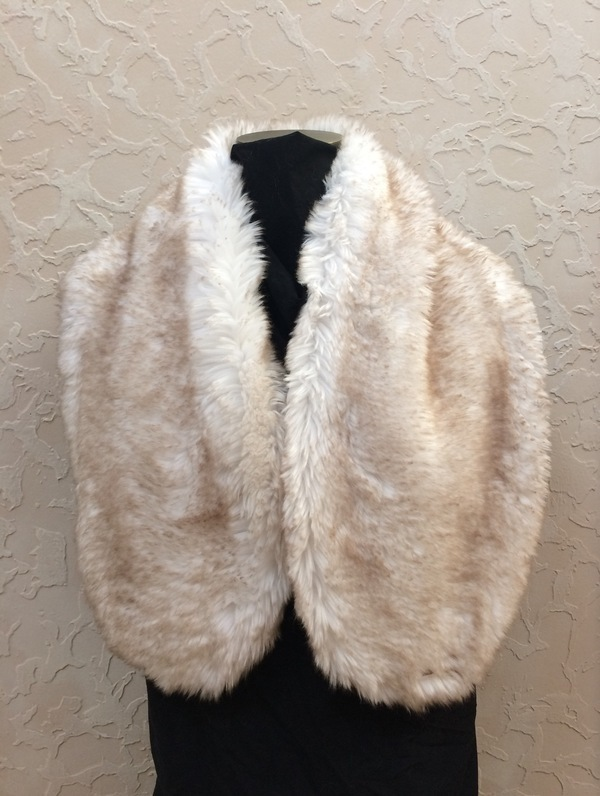 Self Drafted Pattern 378327 1010 Taupe Plush Faux Fur Stole