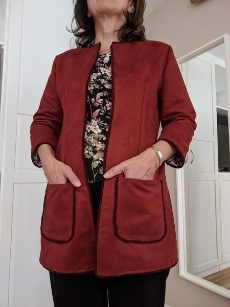 Butterick 6382 Misses' Open-Front Jackets with Patch Pockets