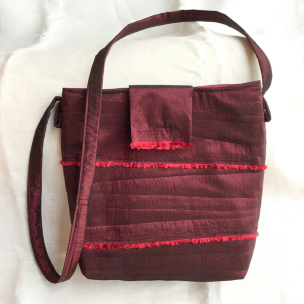 02383b41c No Pattern Used Cross Body Tote by SewCanShe Crossbody Tote pattern ...