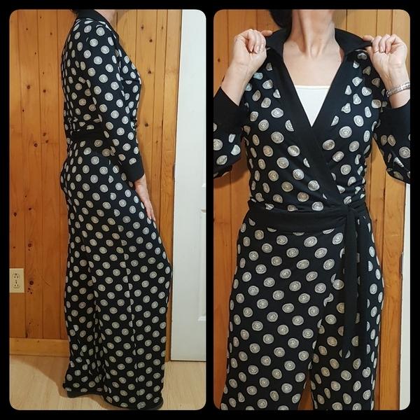 Stretch Knit Wrap Jumpsuit Dress Romper Ties Sewing Pattern Plus 14 16 18 20 22
