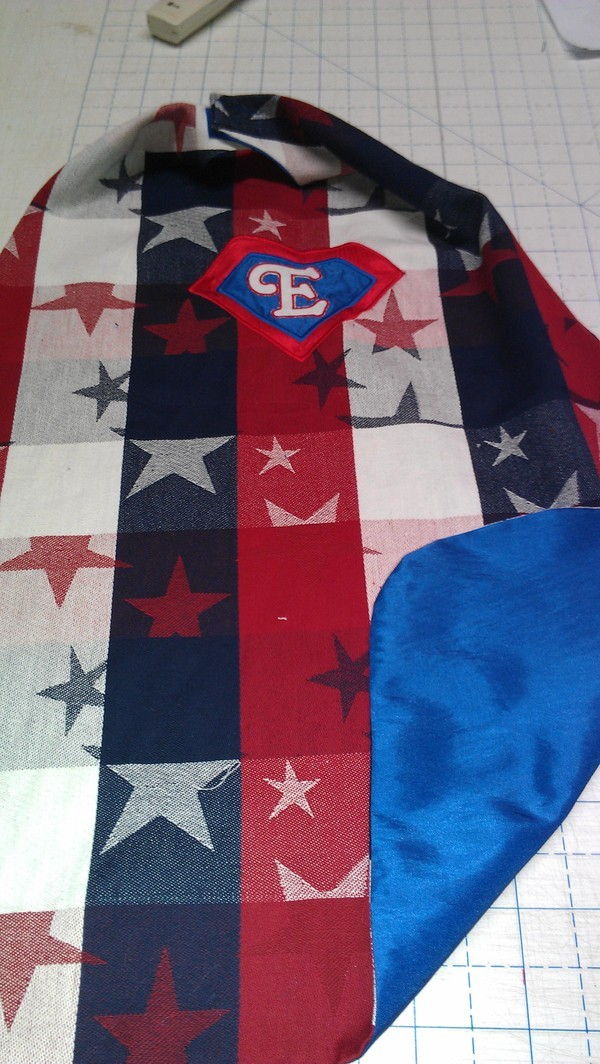 No Pattern Used Superhero cape pattern review by Passion4Sewing