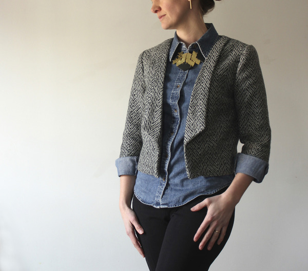 Salme Sewing Patterns 60 Cropped Blazer Downloadable Pattern Delectable Blazer Pattern