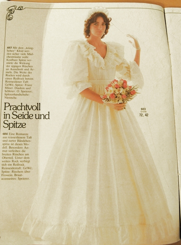 Burda Princess Diana Wedding Dress 15-1984-603 pattern review by ...